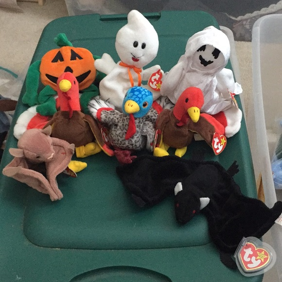 Vintage Other - 8 Fall Holiday beanie babies